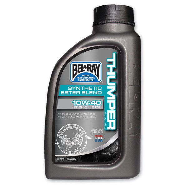 Bel Ray Thumper Racing Synthetic Ester Blend 4T Motorcycle Engine Oil