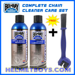 BELRAY motorcycle chain cleaner chain lubricant care set
