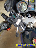 BELTA X-grip motorcycle mobile phone holder install
