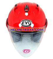EVO RS 959 Motorcycle Open Face Helmet RED