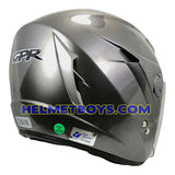GPR GS08 JET motorcycle helmet grey back view