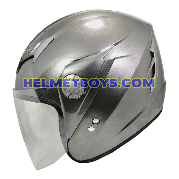 GPR GS08 JET motorcycle helmet grey side view