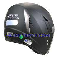GPR GS08 JET motorcycle helmet matt black back view