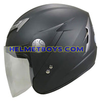 GPR GS08 JET motorcycle helmet matt black side view