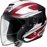 Shoei JFORCE 4 motorcycle Helmet graphic BRILLER red white TC1