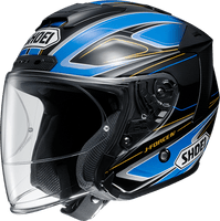 Shoei JFORCE 4 motorcycle Helmet graphic BRILLER blue TC2