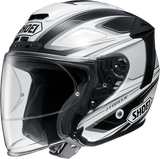 Shoei JFORCE 4 motorcycle Helmet graphic BRILLER white black TC6
