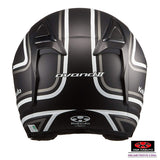 KABUTO AVAND2 STAID open face motorcycle helmet matt black white back view