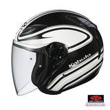 KABUTO AVAND2 STAID open face motorcycle helmet white side