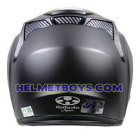KABUTO EXCEED sunvisor motorcycle helmet matt black back view
