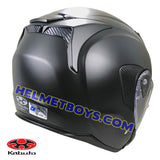 KABUTO EXCEED sunvisor motorcycle helmet matt black backflip view