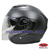 KABUTO EXCEED sunvisor motorcycle helmet matt black side view