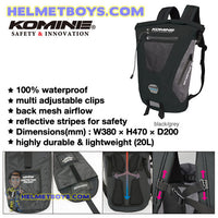 KOMINE motorcycle waterproof backpack
