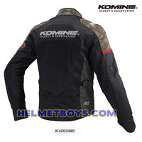 KOMINE JK116 Armour Protection Riding Jacket camo color
