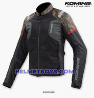 KOMINE JK116 Armour Protection Riding Jacket camo color front