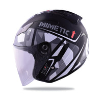 KYT HELLCAT MIMETIC grey Motorcycle Helmet side view