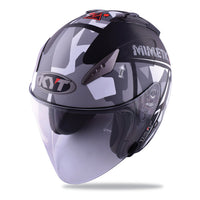 KYT HELLCAT MIMETIC grey Motorcycle Helmet slant view