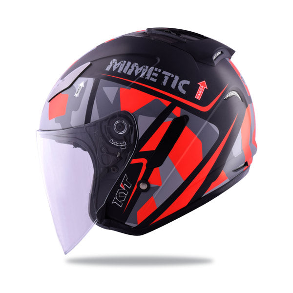 KYT HELLCAT MIMETIC red Motorcycle Helmet side view