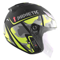 KYT HELLCAT MIMETIC yellow Motorcycle Helmet side view
