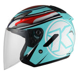 KYT Motorcycle Helmet HELLCAT AQUA side view