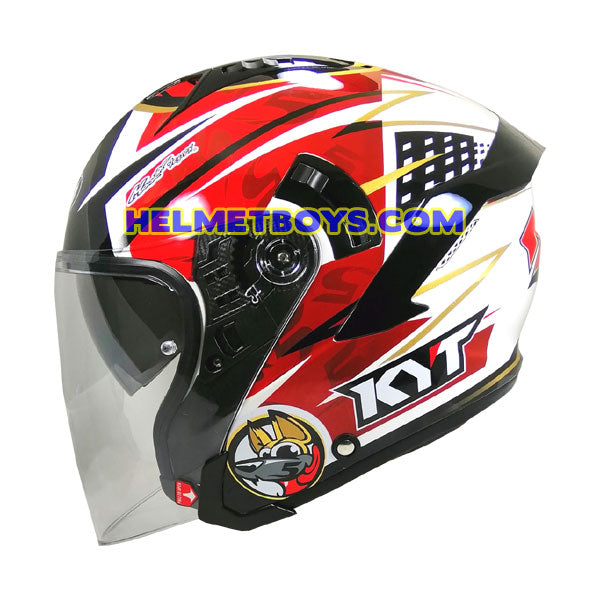 KYT NFJ Motorcycle Helmet JAUME MASIA side view