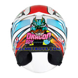 KYT NFJ Motorcycle Helmet KASMA DANIEL back dragon boy view