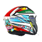 KYT NFJ Motorcycle Helmet KASMA DANIEL backflip right view