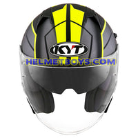 KYT NFJ Motorcycle Helmet MOTION FLUO matt yellow front view