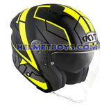 KYT NFJ Motorcycle Helmet MOTION FLUO matt yellow slant view