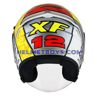 KYT NFJ Motorcycle Helmet XAVI FORES back full view