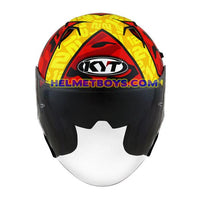 KYT NFJ Motorcycle Helmet XAVI FORES front view