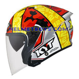 KYT NFJ Motorcycle Helmet XAVI FORES left side view
