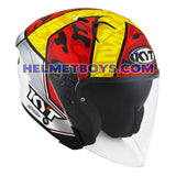KYT NFJ Motorcycle Helmet XAVI FORES slant right view