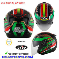 KYT VENOM Motorcycle Helmet NINJA KID safety approved