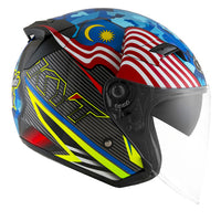KYT VENOM motorcycle helmet SINGAPORE MALAYSIA flag right side