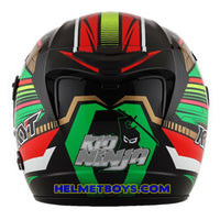 KYT VENOM Motorcycle Helmet NINJA KID back view