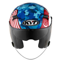 KYT VENOM motorcycle helmet SINGAPORE MALAYSIA flag front view