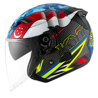 KYT VENOM motorcycle helmet SINGAPORE MALAYSIA flag left side