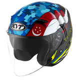 KYT VENOM motorcycle helmet SINGAPORE flag slant view