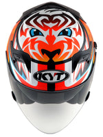 KYT VENOM motorcycle helmet AXEL BASSANI top view