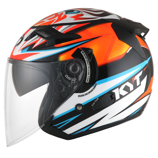 KYT VENOM motorcycle helmet AXEL BASSANI side view