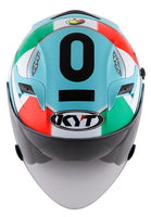 KYT VENOM Motorcycle Helmet ANDREA LOCATELLI top view