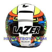 LAZER JH3 ALPHA motorcycle sunvisor helmet back view