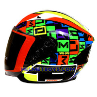 LAZER JH3 ALPHA motorcycle sunvisor helmet side view