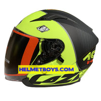 LAZER JH3 Motorcycle Helmet Sunvisor carbon side view