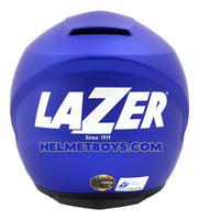 LAZER JH3 Motorcycle Sunvisor Helmet Matt blue back view