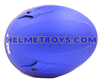 LAZER JH3 Motorcycle Sunvisor Helmet Matt blue top view
