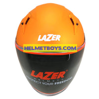 LAZER JH3 Motorcycle Sunvisor Helmet Matt orange front visor view