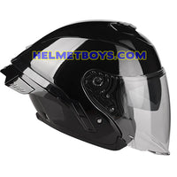 LAZER TANGO Motorcycle Helmet sunvisor glossy black side view