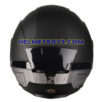 LAZER TANGO Motorcycle Helmet sunvisor matt black back view